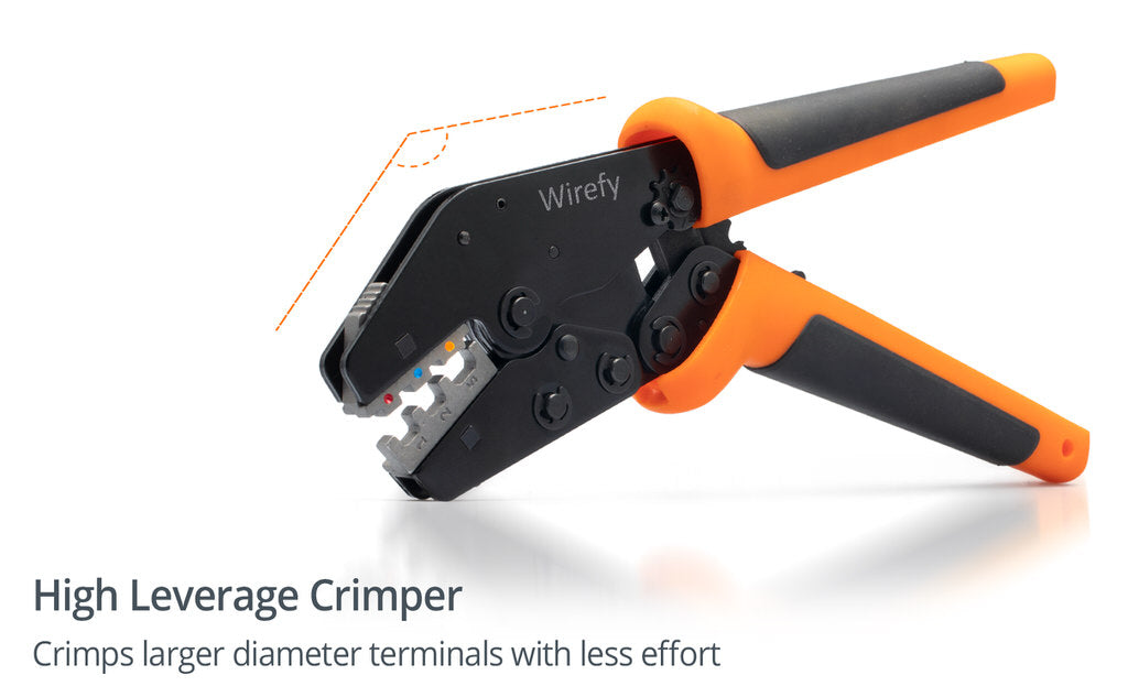 wirefy quick change crimping tool 9 inch high leverage
