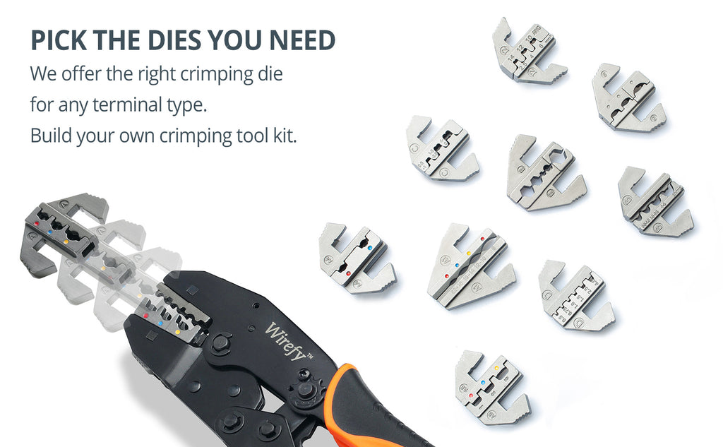 Crimping tool for quick change crimping dies options build your own kit wirefy