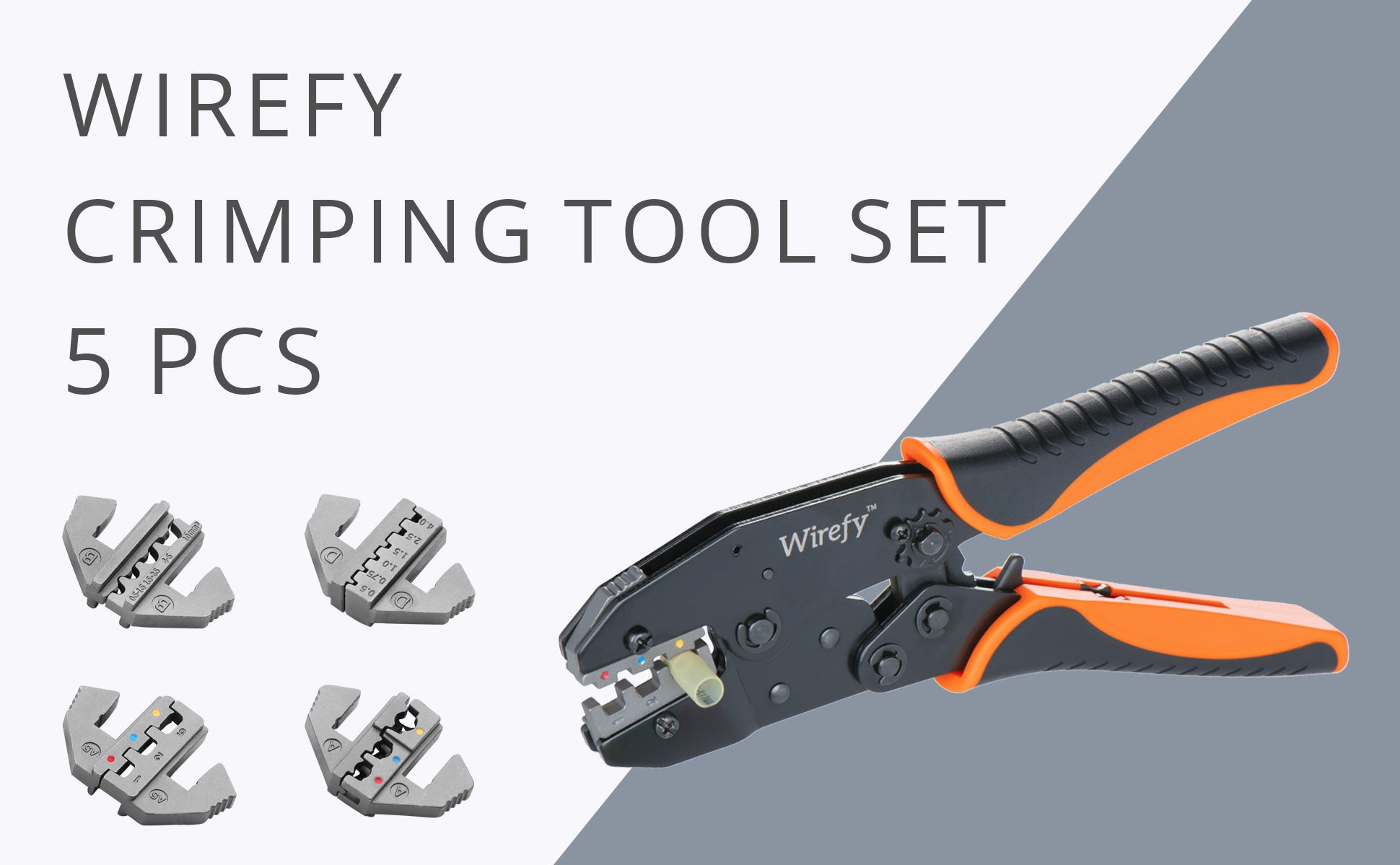 Crimping Tool Set with Interchangeable Dies - 5 PCS