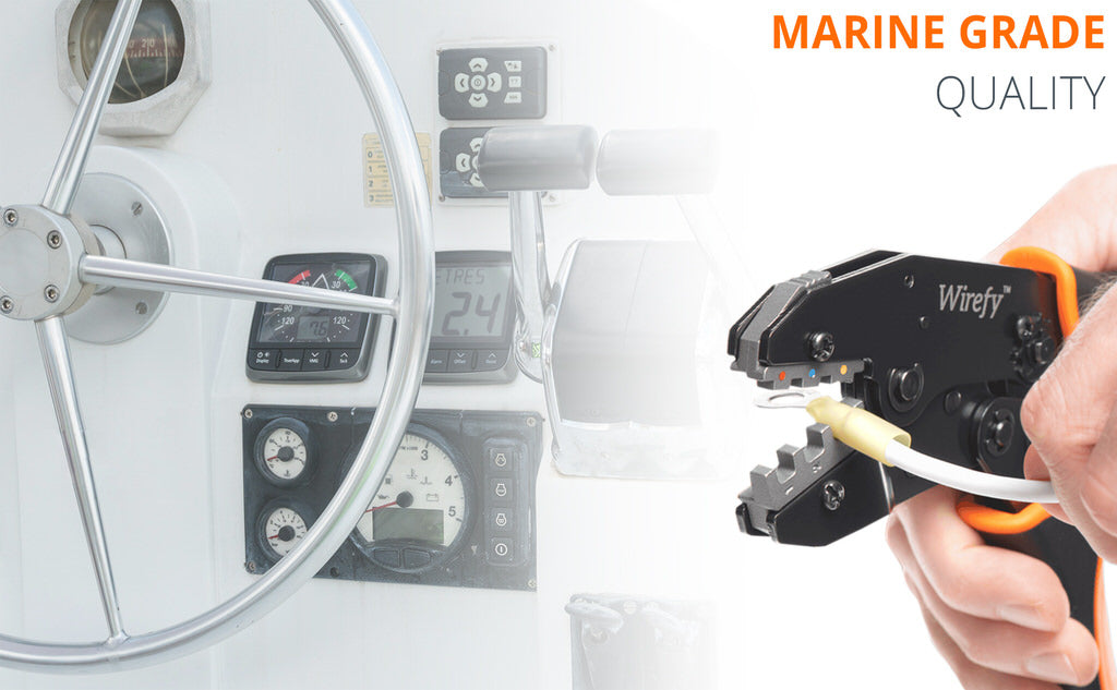 Marine grade heat shrink terminals