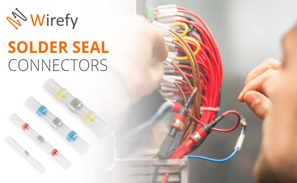solder seal connectors red blue yellow white wirefy