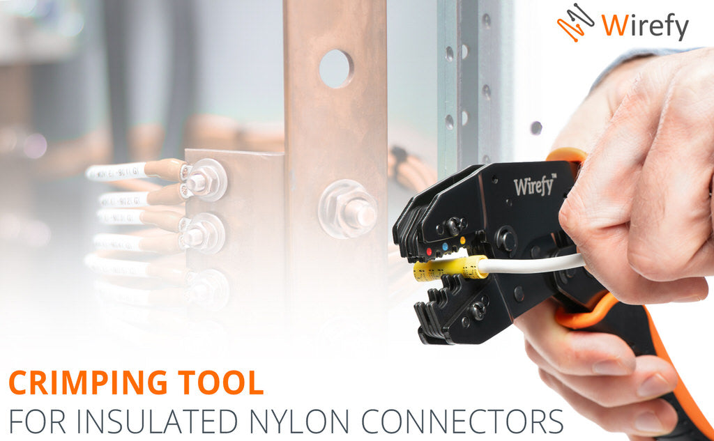 crimping tool for insulated nylon wire connectors wirefy