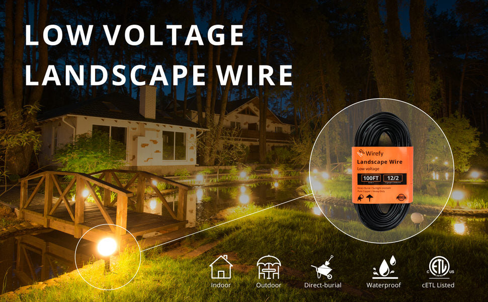 Low Voltage Landscape Lighting Wire - 2-Conductor - 100 Feet
