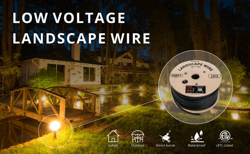 Low Voltage Landscape Lighting Wire - 2-Conductor - 250 Feet