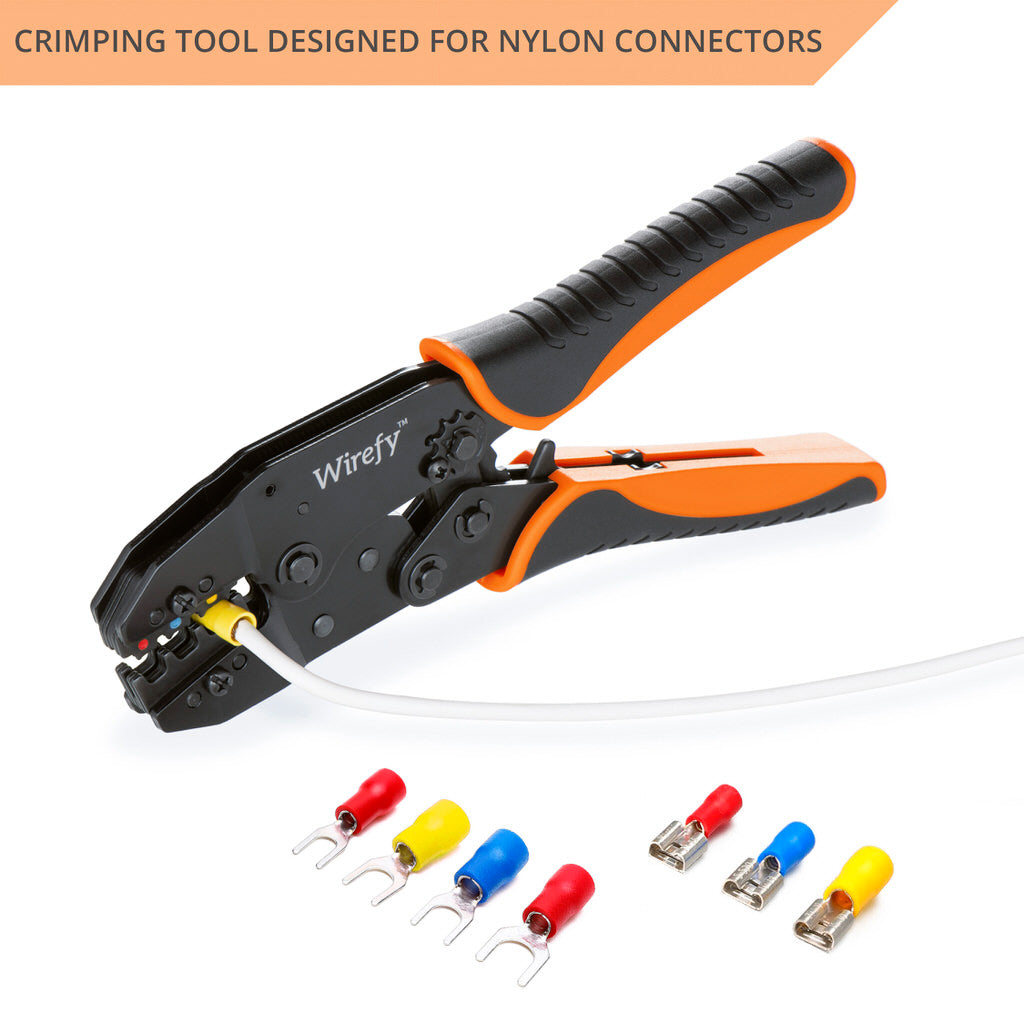 Crimping Tool Insulated Wire Crimper Pliers Connectors Ratcheting Butt Terminal