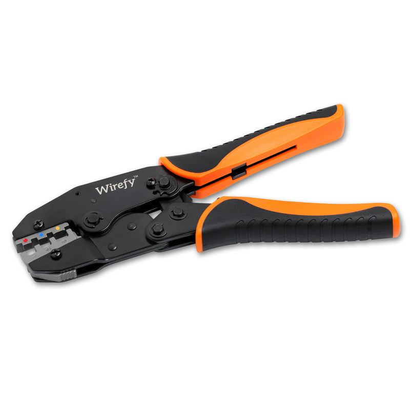 Wirefy crimping tool designed for heat shrink connectors