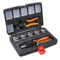 Wirefy 8 PCS crimping tool kit dies stripping tool box set