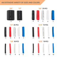 275 PCS Heat Shrink Tubing Kit - 5 Colors