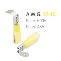 wirefy piggy back piggyback connectors spade 90 pcs yellow 12-10 AWG