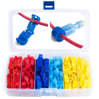 Wirefy 120 PCS T Tap connector kit red blue yellow 22-10 AWG
