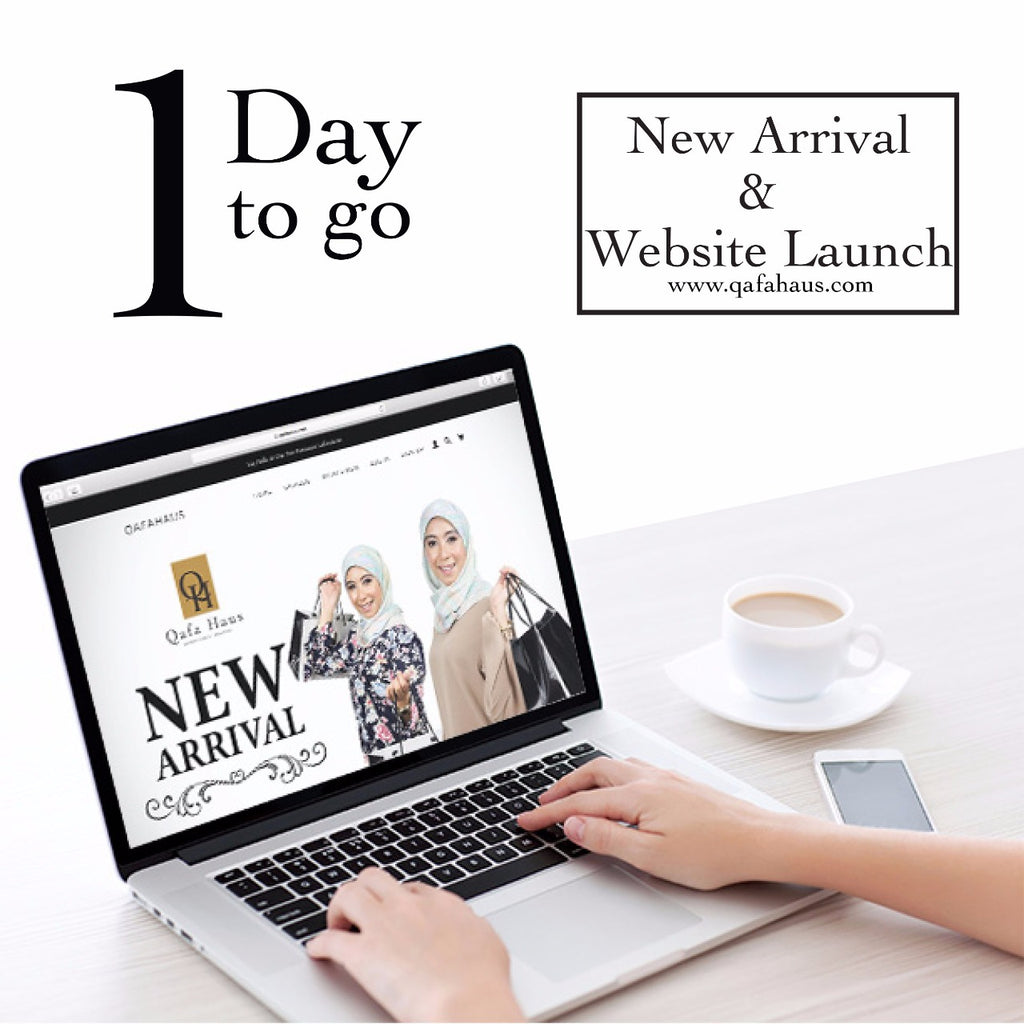 1 DAY TO GO FOR WEBSITE LAUNCH & NEW ARRIVAL!