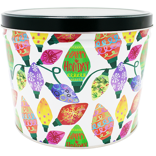 Holiday Lights 2 Gallon Tin