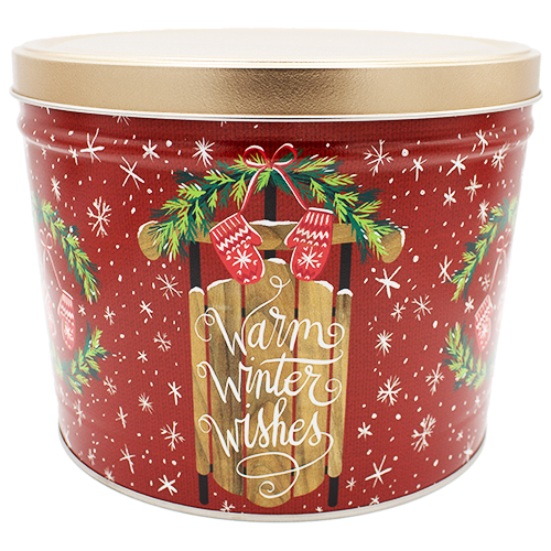 Warm Winter Wishes 2 Gallon Tin