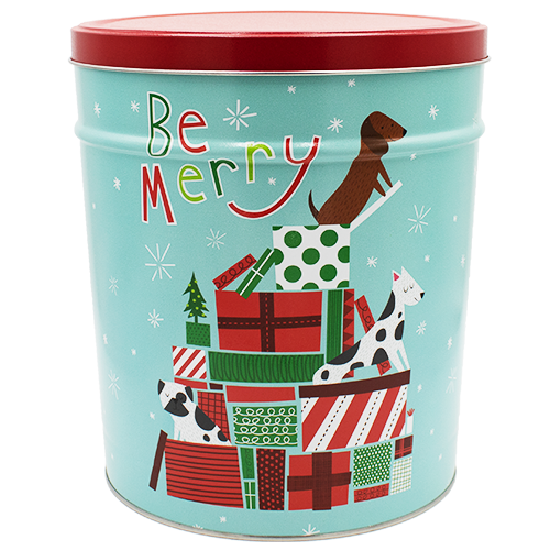 Jingle Pups 3.5 Gallon Tin
