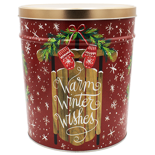 Warm Winter Wishes 3.5 Gallon Tin