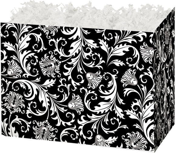 Black & White Damask Large Gift Box
