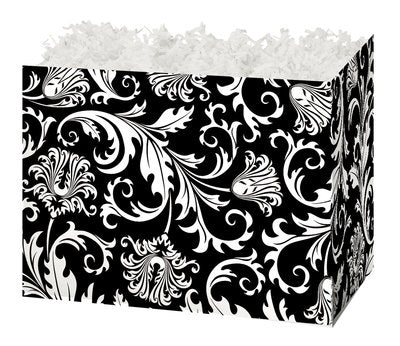 Black & White Damask Small Gift Box