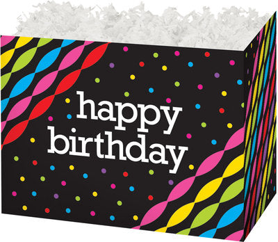 Birthday Streamers Large Gift Box