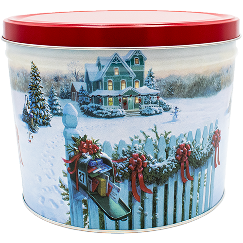 Christmas Mail 2 Gallon Tin