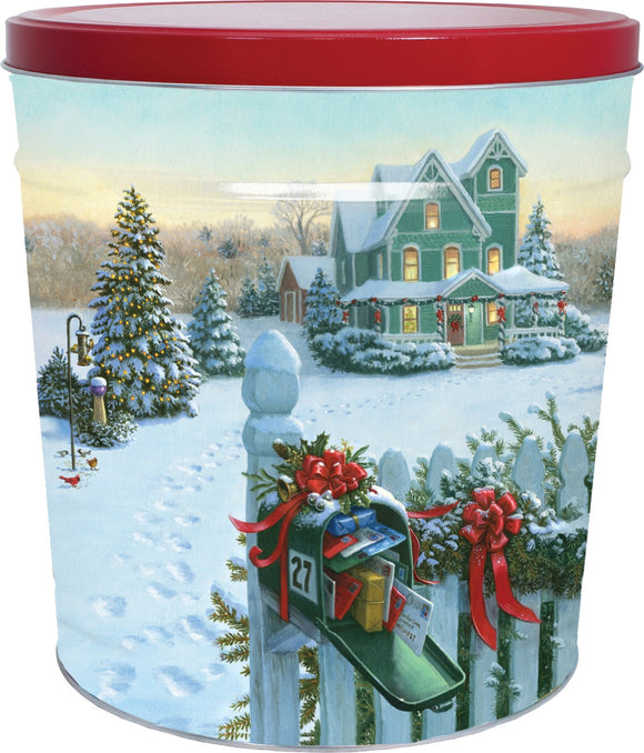 Christmas Mail 3.5 Gallon Tin