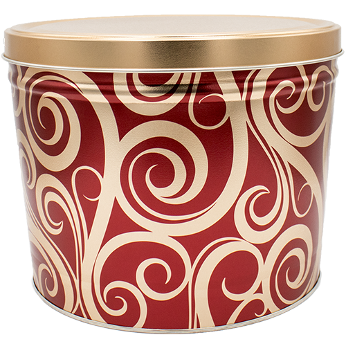 Golden Swirls 2 Gallon Tin