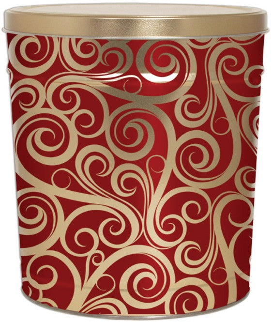 Golden Swirls 3.5 Gallon Tin