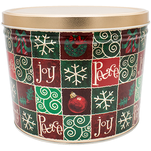 Holiday Checkers 2 Gallon Tin