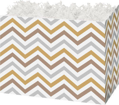 Metallic Chevron Large Gift Box