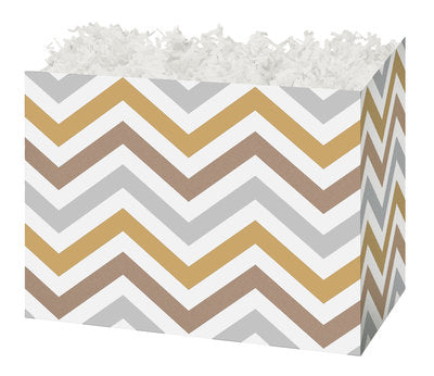 Metallic Chevron Small Gift Box