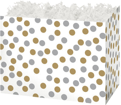 Metallic Dots Large Gift Box
