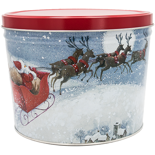 Santa's Sleigh 2 Gallon Tin