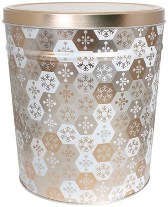 Shinning Snowflakes 3.5 Gallon Tin