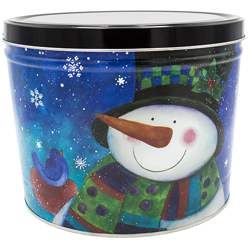 Top Hat Snowman 2 Gallon Tin