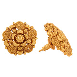 Dseries  Collection Pink Gold Plated Stud Earrings