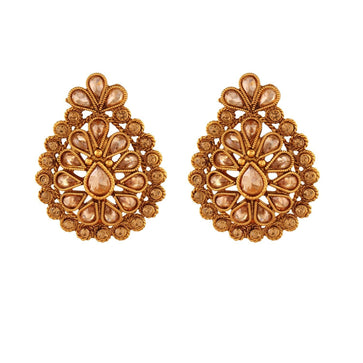 ACERJS438GY -AccessHer Women Fashion Indian Bollywood Anniversary Wear Stud Earrings - access-her