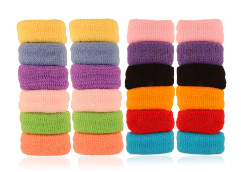 RB051717WLBWAccessHer Multicolor Rubber Hair Band - Set of 12 Pcs
