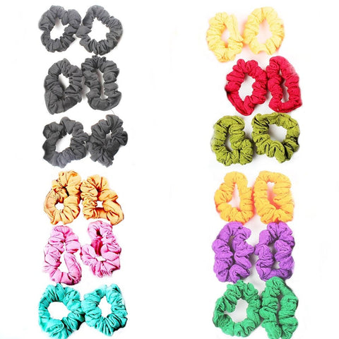ACMFRBBN13COMBOAccessHer Soft Multicolor Rubber Hair Band - Set of 24 Pcs.