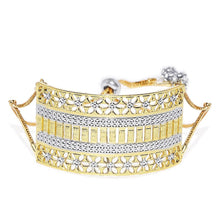Load image into Gallery viewer, BGR0619DK162SG-AccessHer 22k Gold Plated Adjustable CNC Drawstring Bracelet for Women and Girls