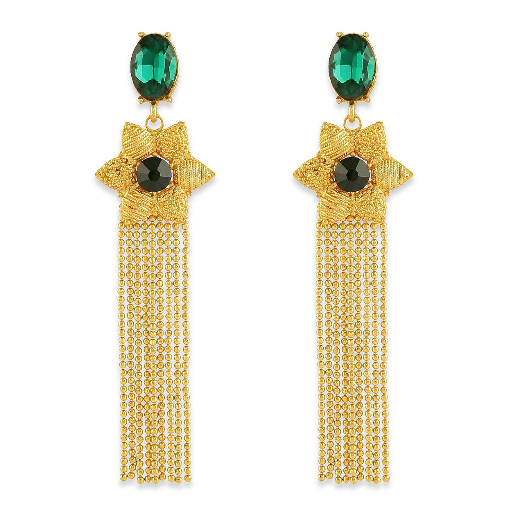 AccessHer Gold Color Brass Material Chain Tassel earrings