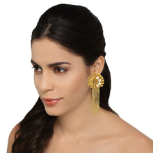 Load image into Gallery viewer, ER0518JY65G -AccessHer Gold Color Brass Material Chain tassel earrings - access-her