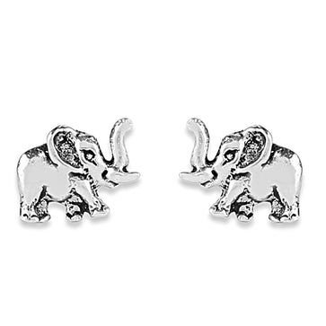 ER0619HP160S5-AccessHer 92.5/925 Sterling Silver Small Elephant stud earrings for women and girls