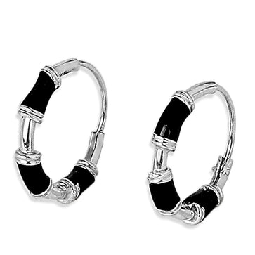 ER0619HP240SB-AccessHer 92.5/925 Sterling Silver Bali/ Hoop earrings for women and girls
