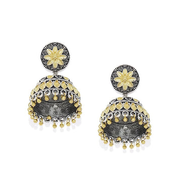 ER1118SW38SG -AccessHer Two tone german silver jhumki - access-her