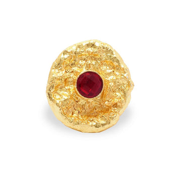 FR0918M102P5-Ruby Stone Finger Ring for Women