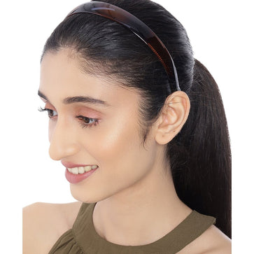 HB0221RR66BR -Handcrafted Brown Hairband