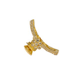 AccessHer Gold::White Color Brass Material With Cubic Zirconia Stone Butterfly clip For Women/HP0518LP149GW
