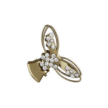 HP0518LP151M -ACCESSHER Multi Color Brass Material with Cubic Zirconia Stone Butterfly Clip for Women