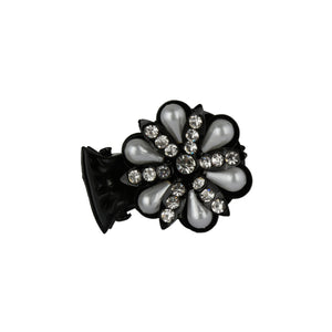HP0518LP153BW -Accessher Studed Butterfly Hair Clip with Cubic Zirconia for Womens and Girls