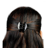 AccessHer Black Color Acrylic Material Stone Butterfly clip For Women/HP0518LP639B