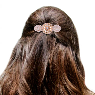 Accessher designer studded back Hair clip/ Hair Barrette/ Hair pin hair accessories for Women-HP0717GC6231GW - access-her